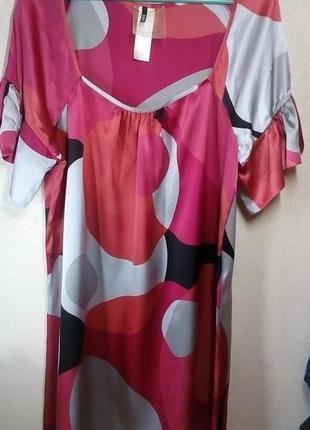 Платье туника шелк 100%1