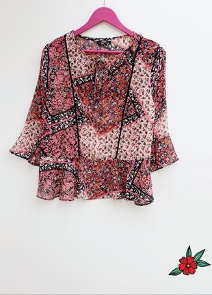 Шифоновая рубашка блузка шикарная воздушная рубашка1
