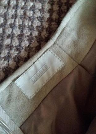 Шикарная юбка замша ваниль4 фото