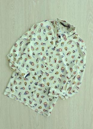 Блуза в совах2