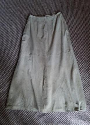 Шикарная юбка замша ваниль5 фото