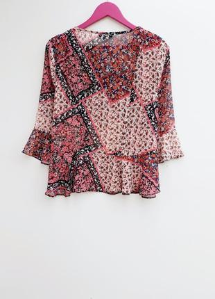 Шифоновая рубашка блузка шикарная воздушная рубашка2