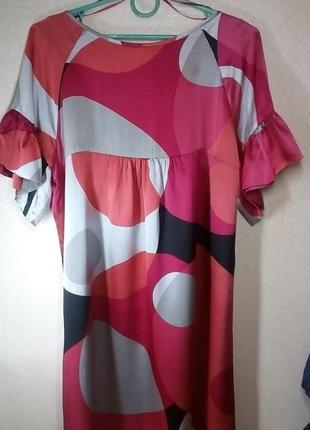 Платье туника шелк 100%5