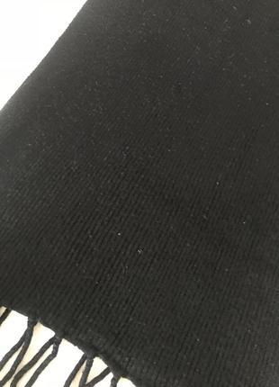 Тёплый черный шарф2