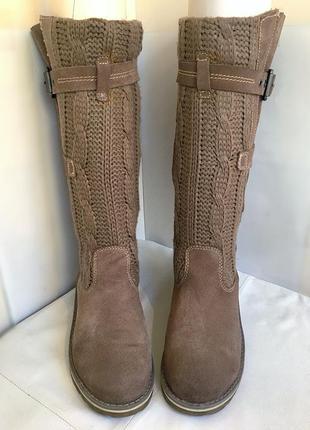 Сапоги зимние, кожаные с вязаным голенищем, bama 38/39 размер.2