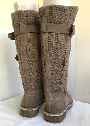 Сапоги зимние, кожаные с вязаным голенищем, bama 38/39 размер.3