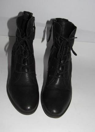 Choizz_стильные кожаные женские ботинки из германии 40р ст.25,5см m203