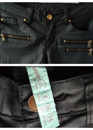 Трендовые черные джинсы denim co с напылением под кожу4