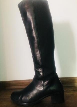 Кожа шкіра сапоги чобітки 38 розмір1