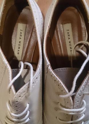 Туфли,оксфорды натуральная кожа zara2