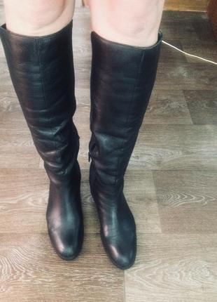 Кожа шкіра сапоги чобітки 38 розмір2