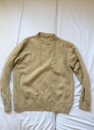 Бежевый теплый свитер унисекс