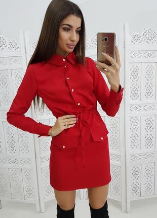 Платье - рубашка в разный цветах1