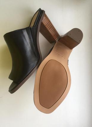 Сабо clarks шлёпки на каблуке кожа босоножки шлепанци2