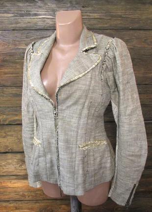 Пиджак tricot, лен, м (12) винтаж, как новый!1