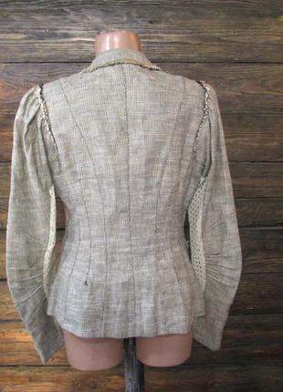 Пиджак tricot, лен, м (12) винтаж, как новый!2