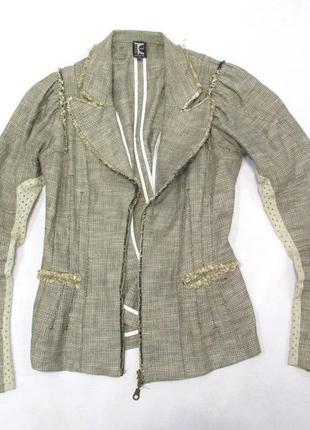 Пиджак tricot, лен, м (12) винтаж, как новый!5