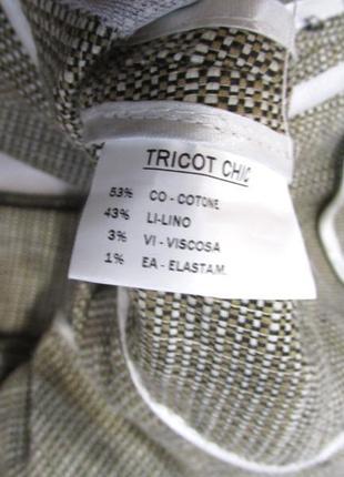 Пиджак tricot, лен, м (12) винтаж, как новый!3