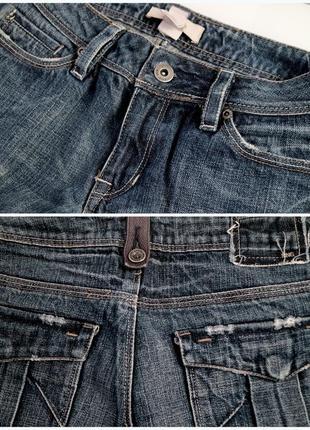 Джинсы с накладными карманами и необработанным краем mango размер 345