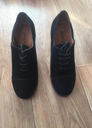 Ботильоны туфли замшевые кожаные2