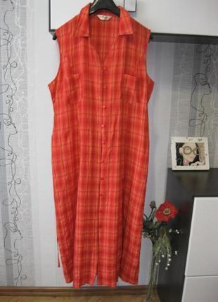 Универсальное городское пляжное домашнее вискозное платье жатка большой ххххл 20.541