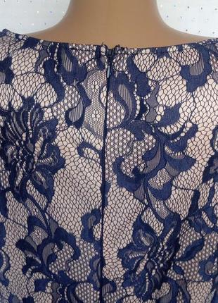 Красивое кремовое платье с черным гипюром, под пояс. (пог-57см)4