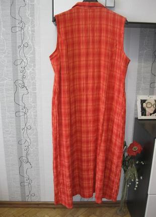 Универсальное городское пляжное домашнее вискозное платье жатка большой ххххл 20.543