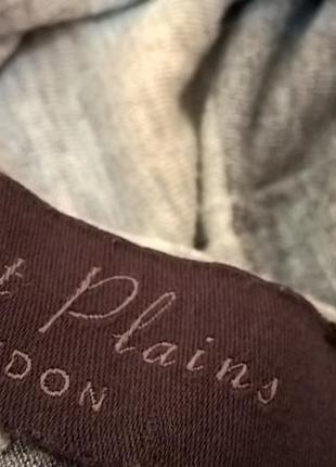 Длинный стильный шарф в полоску трикотаж2