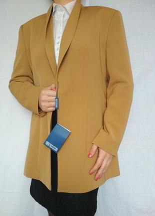 Шикарный роскошный удлиненный пиджак жакет,шалевый ворот, пуговицы, качество,стиль, италия1