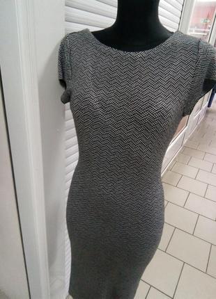 Платье прямое трикотажное1