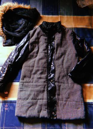 Чёрная курточка-не пуховик но тёплая и стильная✨1