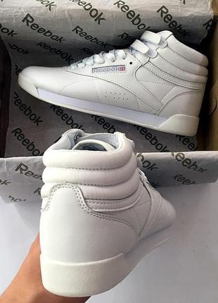 Женские белые кроссовки reebok free style high разные размеры в наличии2
