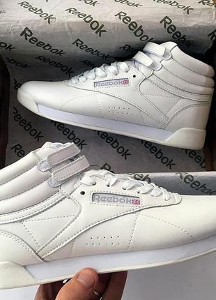 Женские белые кроссовки reebok free style high разные размеры в наличии1