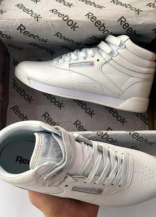 Женские белые кроссовки reebok free style high разные размеры в наличии3