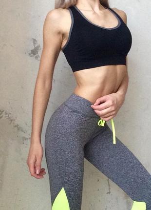 Серые капри для фитнеса3