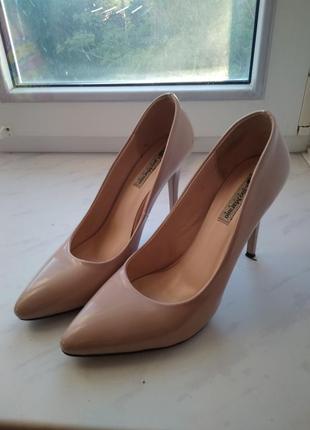 Туфли на каблуке,на шпильке, бежевые, каблук, шпилька lina marano1