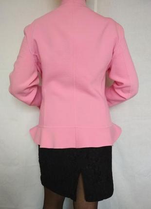 Эксклюзив, люкс бренд, пиджак жакет, шерсть, дизайн,розовый,escada2