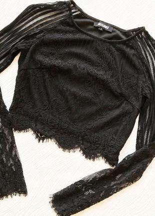 Укорочённая кружевная блуза1