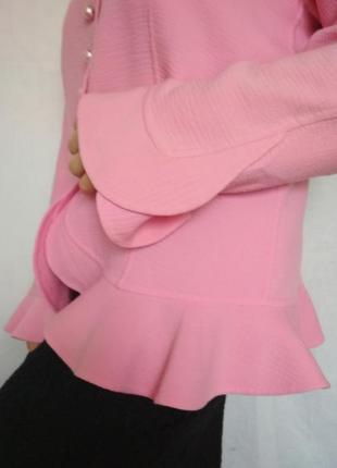 Эксклюзив, люкс бренд, пиджак жакет, шерсть, дизайн,розовый,escada4