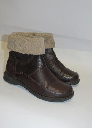 Hush puppies_португалия кожа комфортные утепленные женские ботинки 38р ст.24,5см m203