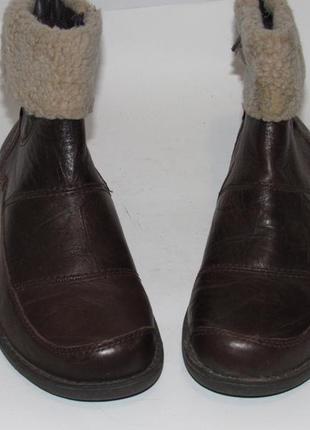 Hush puppies_португалия кожа комфортные утепленные женские ботинки 38р ст.24,5см m204