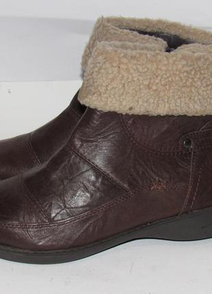 Hush puppies_португалия кожа комфортные утепленные женские ботинки 38р ст.24,5см m201