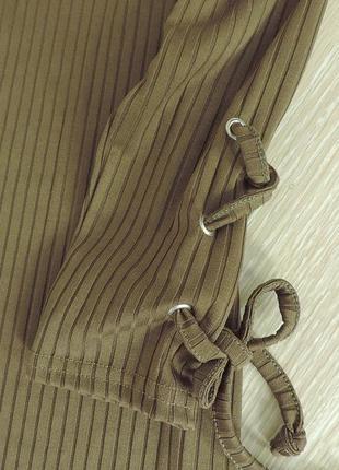 Миди платье с завязками на рукавах4