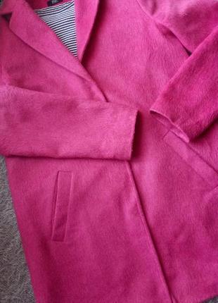 Шерстяное твидовое пальто бойфренд оверсайз f&f us 6 eur 381