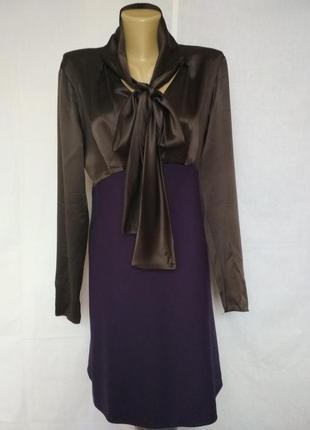 Эксклюзив, роскошное дизайнерское платье, шёлк, шерсть,moschino1