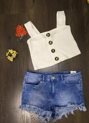Джинсовые шорты/ удобные /стильные /высокая посадка1