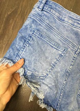 Джинсовые шорты/ удобные /стильные /высокая посадка4