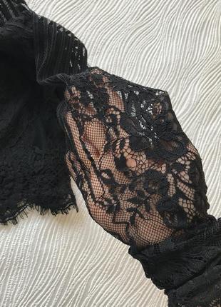 Укорочённая кружевная блуза3