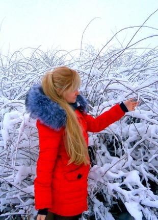 Зимняя парка красная olanmear2