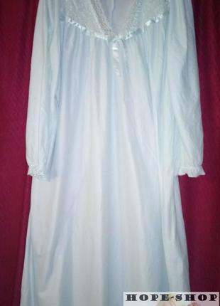 Домашнее платье ,ночная рубашка,сорочка с длинным рукавом 14/162